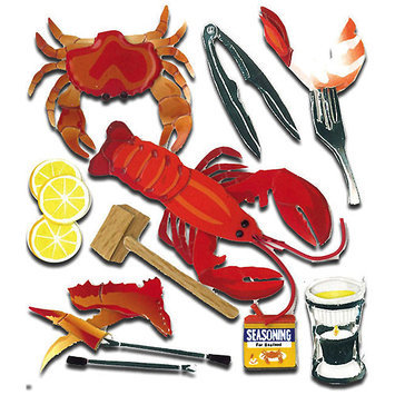 Sticko & Jolee's Jolee's Boutique Dimensional Stickers-Crustacean