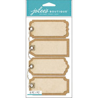 Jolees Jolee's Boutique Tags W/Twine Stickers-Burlap Tags