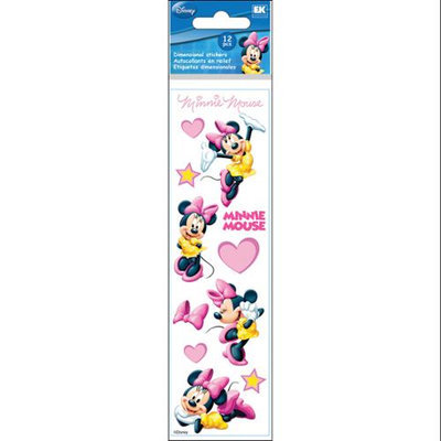 Ek Success Disney 3D Slim Stix Minnie Mouse Sticker