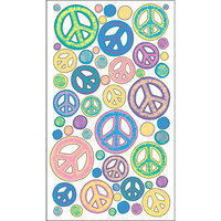 Sticko E5200209 Sticko Classic Stickers-Sketchy Peace Signs