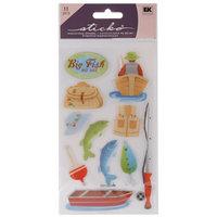Sticko E5200288 Sticko Classic Stickers-Vellum Fishing