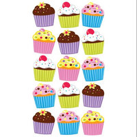 Stickopotamus Stickers Glitter Bright Cupcake