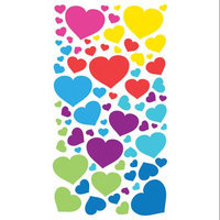 Stickopotamus Stickers Metallic Hearts