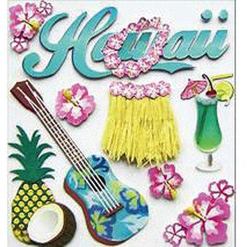 Jolees Jolee's Boutique Dimensional Destination Stickers-Hawaii