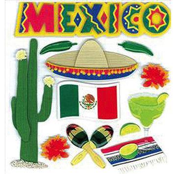 Jolees 447131 Jolees Boutique Dinensional Destination StickersMexico Pack of 3
