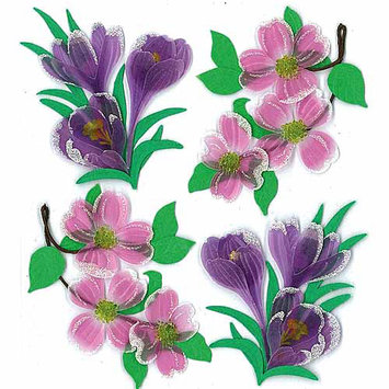 Jolees 469539 Jolees Boutique Spring-Easter Stickers-Dogwood And Crocus Flowers
