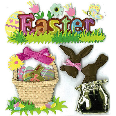 Jolees 469552 Jolees Boutique Spring-Easter Stickers-Easter Chocolate Bunnies