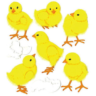 Jolees E5020535 Jolees Boutique Spring-Easter Stickers-Baby Chicks