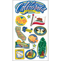 Sticko E5260112 Sticko Classic Stickers-California
