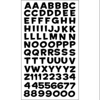Stickopatomus Sticko E5240042 Sticko Alphabet Stickers-Funhouse Black Metallic