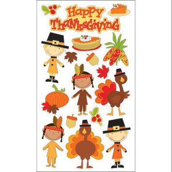 Sticko 120808 Sticko Harvest Sticker-Happy Thanksgiving