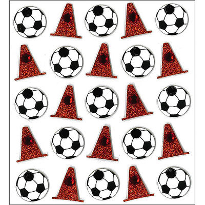 Sticko 473484 Jolees Mini Repeats Stickers-Soccer Balls and Cones