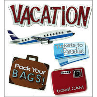 Jolees 476784 Jolees Boutique Dimensional Stickers-Vacation