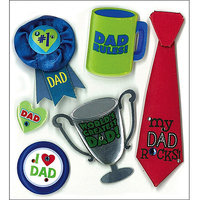 Jolees 476790 Jolees Boutique Dimensional Stickers-No 1 Dad