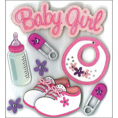 Jolees 476791 Jolees Boutique Dimensional Stickers-Baby Girl