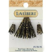 Jolees 494776 Laliberi-Flowers And Brass Bead Caps 8-Pkg-Long-Short