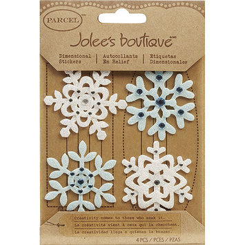 Jolees 121335 Jolees Boutique Christmas Stickers-Fun Felt Snowflakes