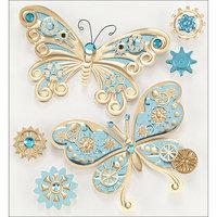 Jolees 121270 Jolees Steampunk Sticker-Butterflies