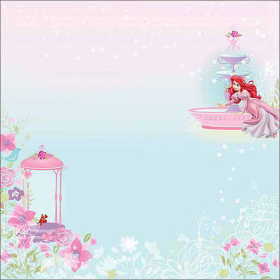 EK Success E5380254 Disney Glittered Paper 12 in. x 12 in. - Princess - Multi - Pack of 12