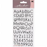 Eksuccess Brands Sticko Alphabet Stickers-Thin Upright Black