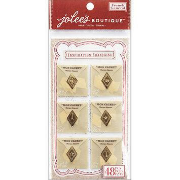 Ek Success Ltd. French General Dimensional Stickers 6/Pkg-Mon Cachet Glassine Envelopes With Seals