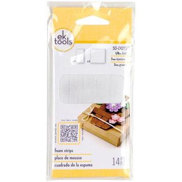 EK Success E5501043 3-D Dots Foam Dots Adhesive-White Strips .125 in. 14-Pkg