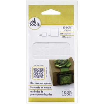 EK Success E5501045 3D Dots Foam Dot Adhesive-White Squares .0625 in.