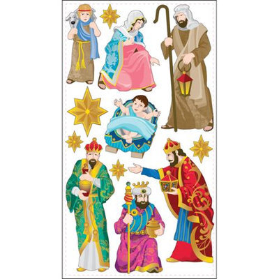 Sticko Christmas Stickers-Nativity
