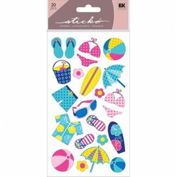 Eksuccess Brands Sticko Classic Stickers-Polkadot Beach