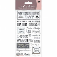 Eksuccess Brands Sticko Classic Stickers-Black Tie Phrases