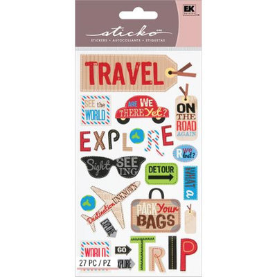Eksuccess Brands Sticko Classic Stickers-Happy Traveling