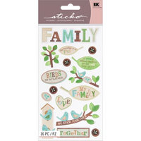 Eksuccess Brands Sticko Classic Stickers-The Family Tree