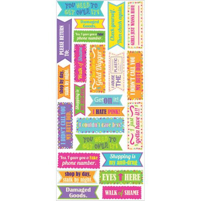 Eksuccess Brands Sticko Stickofy Stickers-Sassy Teen Phrase Labels