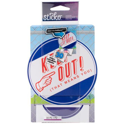Eksuccess Brands Sticko Stickofy Sticker Roll-Keep Out