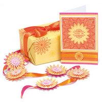 Ek Success Punch Pairings Large Punch & Coordinating Stamps-Floral Doodle