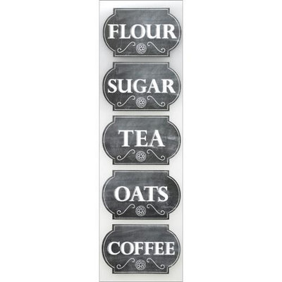 Sticko E5272005 Sticko Chalk Stickers-Canister Labels