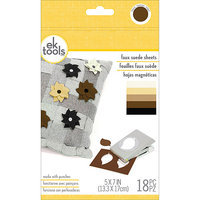 Ek Success Faux Suede Sheets 18/Pkg-Neutrals, 5inX7in