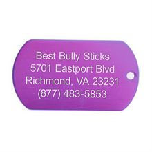 Best Bully Sticks Dog ID Tag - Military Style - Large / Purple Military