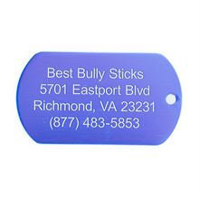 Best Bully Sticks Dog ID Tag - Military Style - Small / Blue Military
