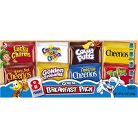 General Mills Cereal Breakfast Pack, 8 count, 9.14 oz