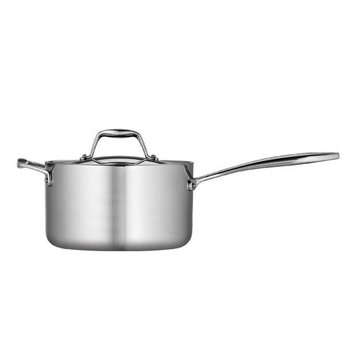 Tramontina Gourmet Tri-Ply Clad Stainless Steel 4 Qt Covered Sauce Pan