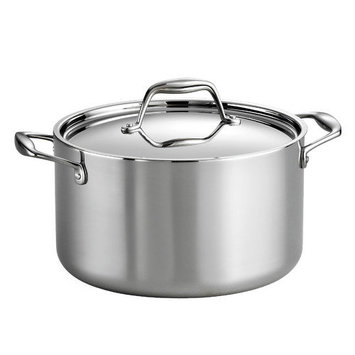 Tramontina Gourmet Tri-Ply Clad Stainless Steel 6 Qt Covered Sauce Pot