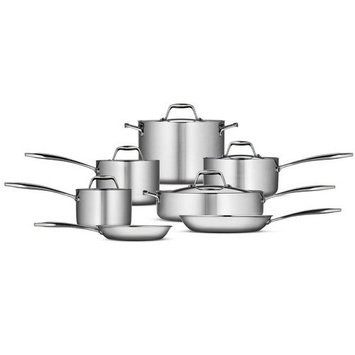 Tramontina Gourmet Tri-Ply Clad Stainless Steel 12 Pc Cookware Set