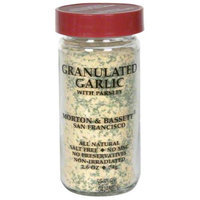 Morton & Bassett Morton and Bassett Spices Granulated Garlic With Parsley, 2.6 oz, - Pack of 3