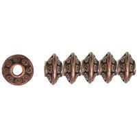 Cousin 150274 Jewelry Basics Metal Beads 6mm 45-Pkg-Copper Rondelle