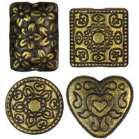 Cousin 479960 Jewelry Basics Metal Beads 15-Pkg-Antique Gold Mixed