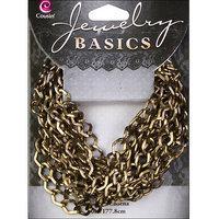 Cousin JBCHN-18011 Jewerly Basics Metal Chain 1-Pkg-Small Diamond-Antique Gold 70 inch