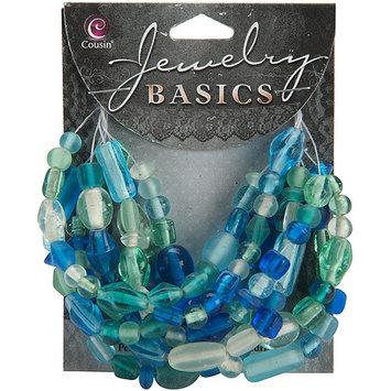 Cousin 479934 Jewelry Basics Glass Bead Mix 50gr-Pkg-Green
