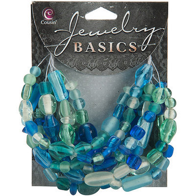 Cousin 479921 Jewelry Basics Mixed Hues And Shapes 50gr-Pkg-Black
