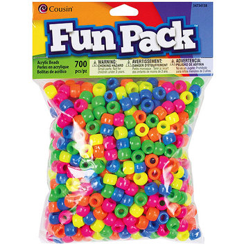 Cousin CCMIX-34136 Fun Pack Pony Bead Mix 700-Pkg-Transparent Rainbow